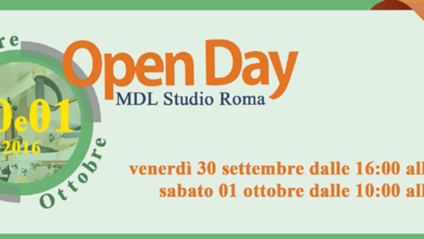 Open Day MDL Studio Roma – 30 settembre e 1 ottobre